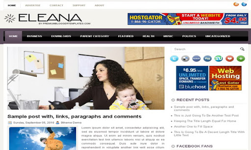 Eleana Blogger Template