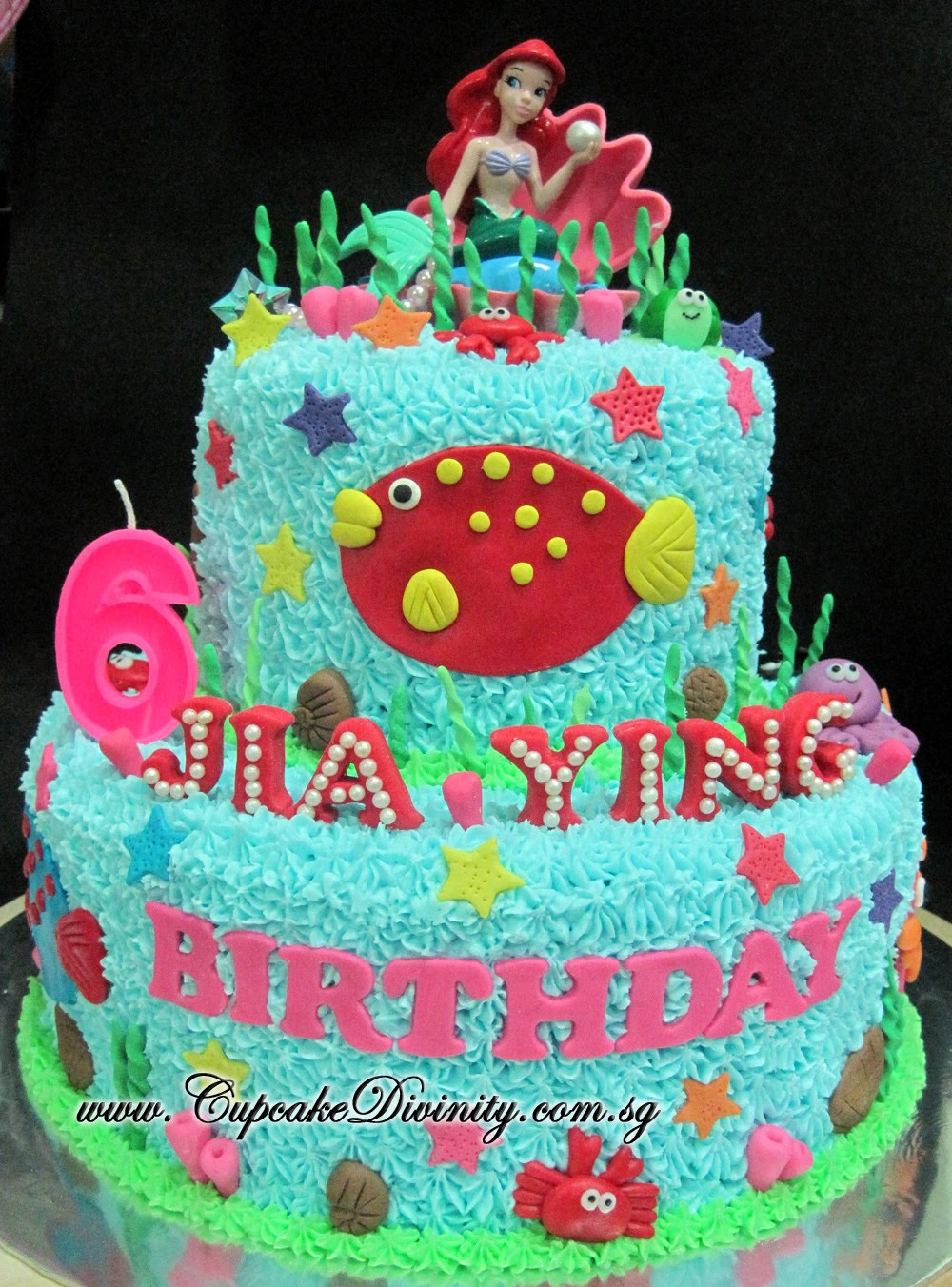 Cupcake Divinity Maxi 2 Tier Ariel Jia Ying Birthday Party