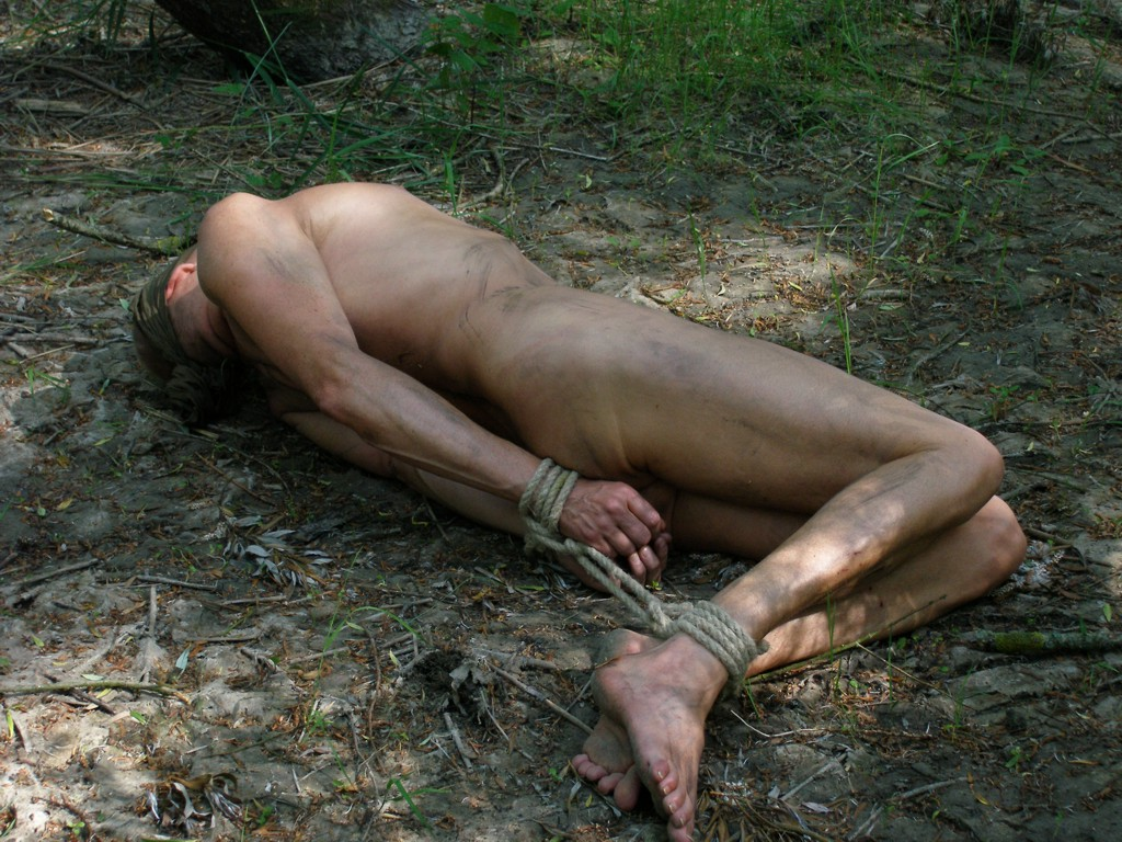 image Boys outdoor bondage gay first time busted