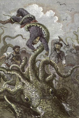Twenty Thousand Leages Under the Sea: Fight Against the Squids