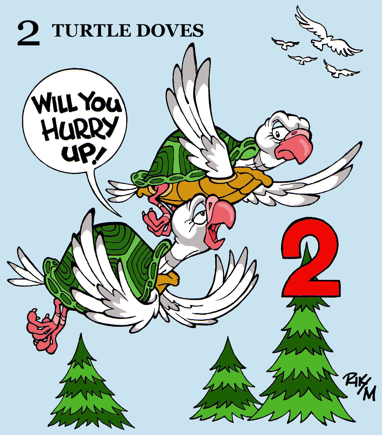 Riktoonz -- Cartoonist/Caricaturist Rick C. Moore: On the 1st, 2nd, 3rd, 4th Day of Christmas my ...