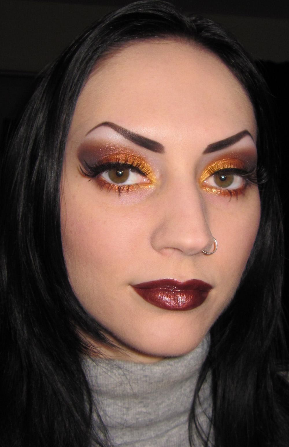 Glitter Is My Crack...: Gold, Orange And Plum Fall Makeup