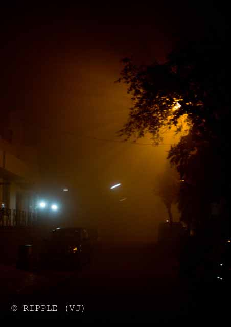 Posted by VJ on PHOTO JOURNEY @ www.travellingcamera.com : FOGGY NOGHT IN DELHI, NOIDA and GURGAON: I loved last night with dense fog in Delhi (20th Jan 2010): VJ, ripple, Vijay Kumar Sharma, ripple4photography, Frozen Moments, photographs, Photography, ripple (VJ), VJ, Ripple (VJ) Photography, VJ-Photography, Capture Present for Future, Freeze Present for Future, ripple (VJ) Photographs , VJ Photographs, Ripple (VJ) Photography : Foggy view outside my Home in Sector-26, Noida... @ Foggy Night in Delhi/Noida