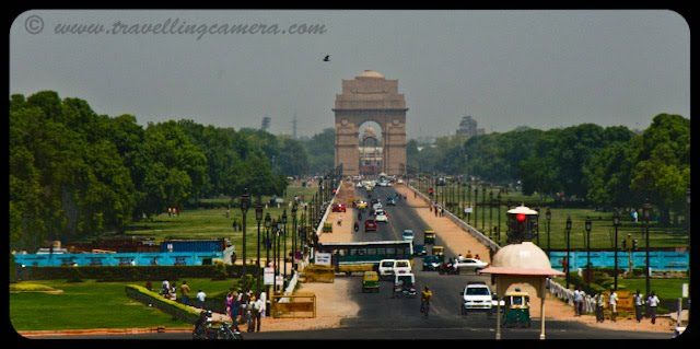 View of India Gate from President's House: Posted by VJ: The India Gate is the national monument of India. It is one of the largest war memorials in India. Situated in the heart of New Delhi, India Gate was designed by Sir Edwin Lutyens. Originally known as All India War Memorial, it is a prominent landmark in Delhi and commemorates the 90,000 soldiers of the erstwhile British Indian Army who lost their lives fighting for the British Indian Empire, or more correctly the British Empire in India British Raj in World War I and the Afghan Wars.It is made up of red sand stone and granite.: VJ, ripple, Vijay Kumar Sharma, ripple4photography, Frozen Moments, photographs, Photography, ripple (VJ), VJ, Ripple (VJ) Photography, VJ-Photography, Capture Present for Future, Freeze Present for Future, ripple (VJ) Photographs , VJ Photographs, Ripple (VJ) : Nowadays if you drive down the smooth wide expanse of Rajpath on a mid summer night, you might be excused for assuming that a huge glittering carnival is in progress at India Gate. The entire boulevard up to the monument is lined with cars, scooters, motorcycles and .... In fact all of Delhi seems to have converged to the emerald lawns of India Gate....