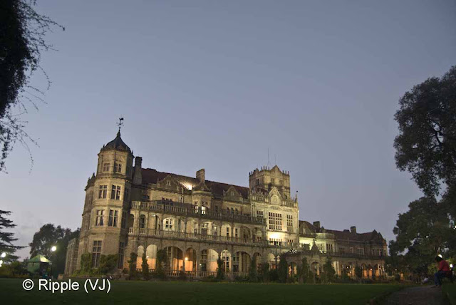 Posted by Ripple (VJ) : Shimla Night View : Front view of Viceregal Lodge, Shimla (Indian Institute of Advanced Studies)
