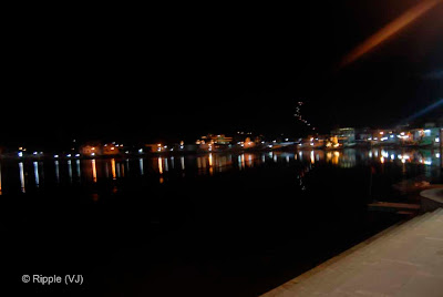 Posted by Ripple (VJ) : Pushkar Night View: Lake view from Jaipur Ghat...