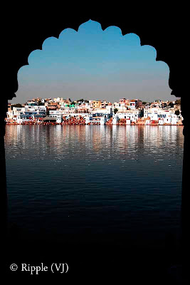 Posted by Ripple(VJ) : Glimpses of Pushkar-Ghats around Puhkar-Lake during Camel Fair-2008 (Pushkar Lake is actually surrounded by different Ghats/Temples... ):: Pushkar has five principal temples, many smaller temples and 52 ghats where pilgrims descend to the lake to bathe in the sacred waters. One of the primary temples is the 14th century temple dedicated to Brahma, the Hindu god of creation.