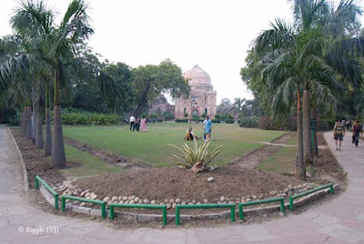 Posted by Ripple (VJ) : A visit to Lodhi Garden, Delhi, INDIA :: View of Bara Gumbad from Gate-A of Lodhi  Garden...