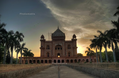 Posted by Ripple (VJ) : First attempt to Create HDR : Safdarjung's Tomb is a garden tomb in a marble mausoleum in Delhi, India. It was built in 1754 in the style of late Mughal architecture. The top story of the edifice houses the Archaeological Survey of India. The garden, in the style evolved by the Mughal Empire that is now known as the Mughal gardens style known as a charbagh, is entered through an ornate gate. Its facade is decorated with elaborate plaster carvings.I had heard a lot about Photomatix and today tried with set of three photographs shown below..PHOTOMATIX is one of the top software for HDR processing. A Company called HDRSoft owns this software and continuously work to make it betterPhotomatix Pro is available on Mac OS X as well as Microsoft Windows and primarily designed to make the process of merging multiple photographs into high dynamic range images and then locally tone-mapping them back to LDR images, easier and more streamlined. Different exposures are best taken as three different AW files. However, in some circumstances you can use one file and process the different exposures from this photographyWe shall try this software for creating HDR out of single Photograph and share soon.