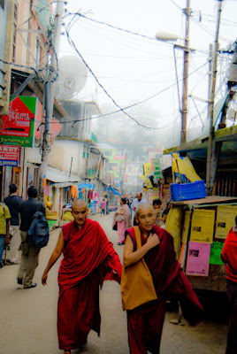 Posted by Ripple (VJ) ON PHOTO JOURNEY/ www.travellingcamera.com : Different colors in Mcleoganj Market on a Foggy Day @ Upper Dharmshala, Himachal Pradesh: Mcleodganj @ Dharmshala, Himachal Pradesh: ripple, Vijay Kumar Sharma, ripple4photography, Frozen Moments, photographs, Photography, ripple (VJ), VJ, Ripple (VJ) Photography, Capture Present for Future, Freeze Present for Future, ripple (VJ) Photographs , VJ Photographs, Ripple (VJ) Photography :  McLeodganj in Himachal Pradesh is the place where Dalai Lama resides. It is thus one of the important tourist destinations of the state. Also known as 'Little Lhasa' the town is the refuge of that Tibetan government, which has been in exile for the past three decades.Buddhist Temple @ Mcleodganj, Dharmshala, Himachal Pradesh: Colors of Mcleodganj Market....