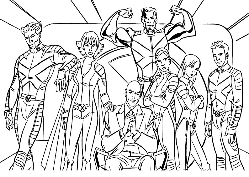 These are storm, wolverine, dr. Kids Under 7 X Men Coloring Pages