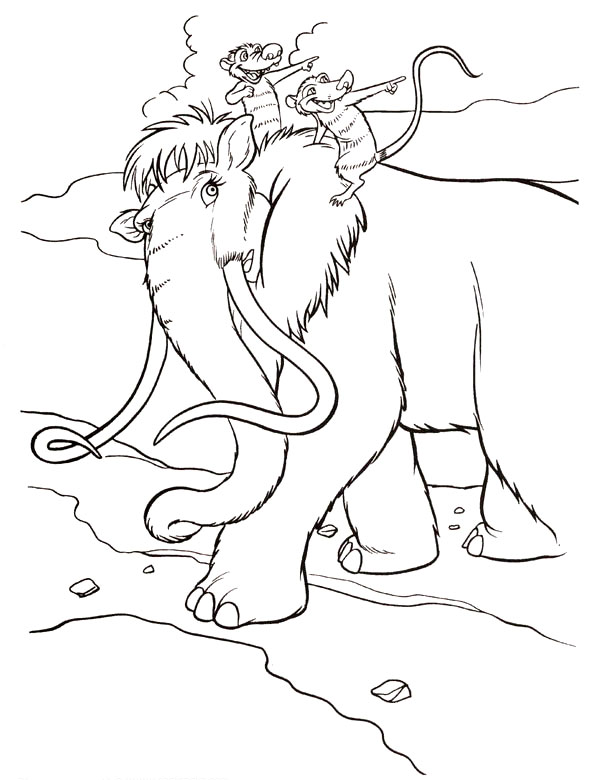 kids under 7 ice age coloring pages