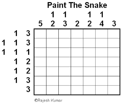 Logic Puzzles: Paint the Snake