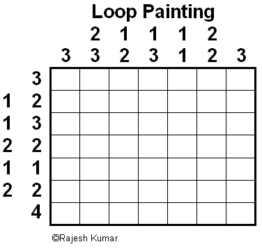 Loop Puzzle Variation: Loop Painting
