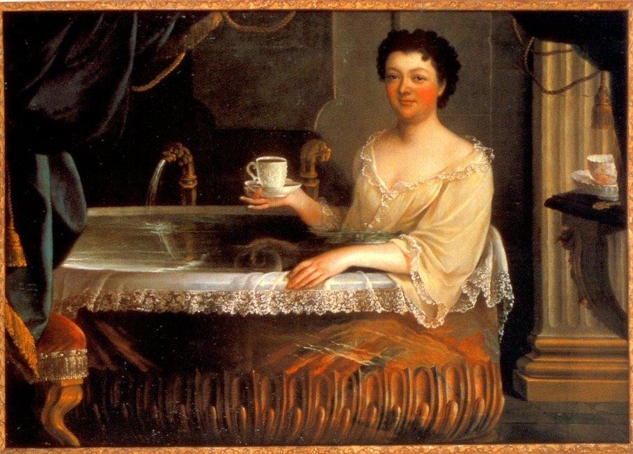 Дама мылась в ванной