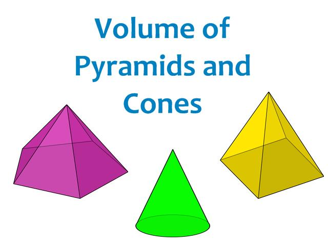 Volume of pyramids and cones worksheet