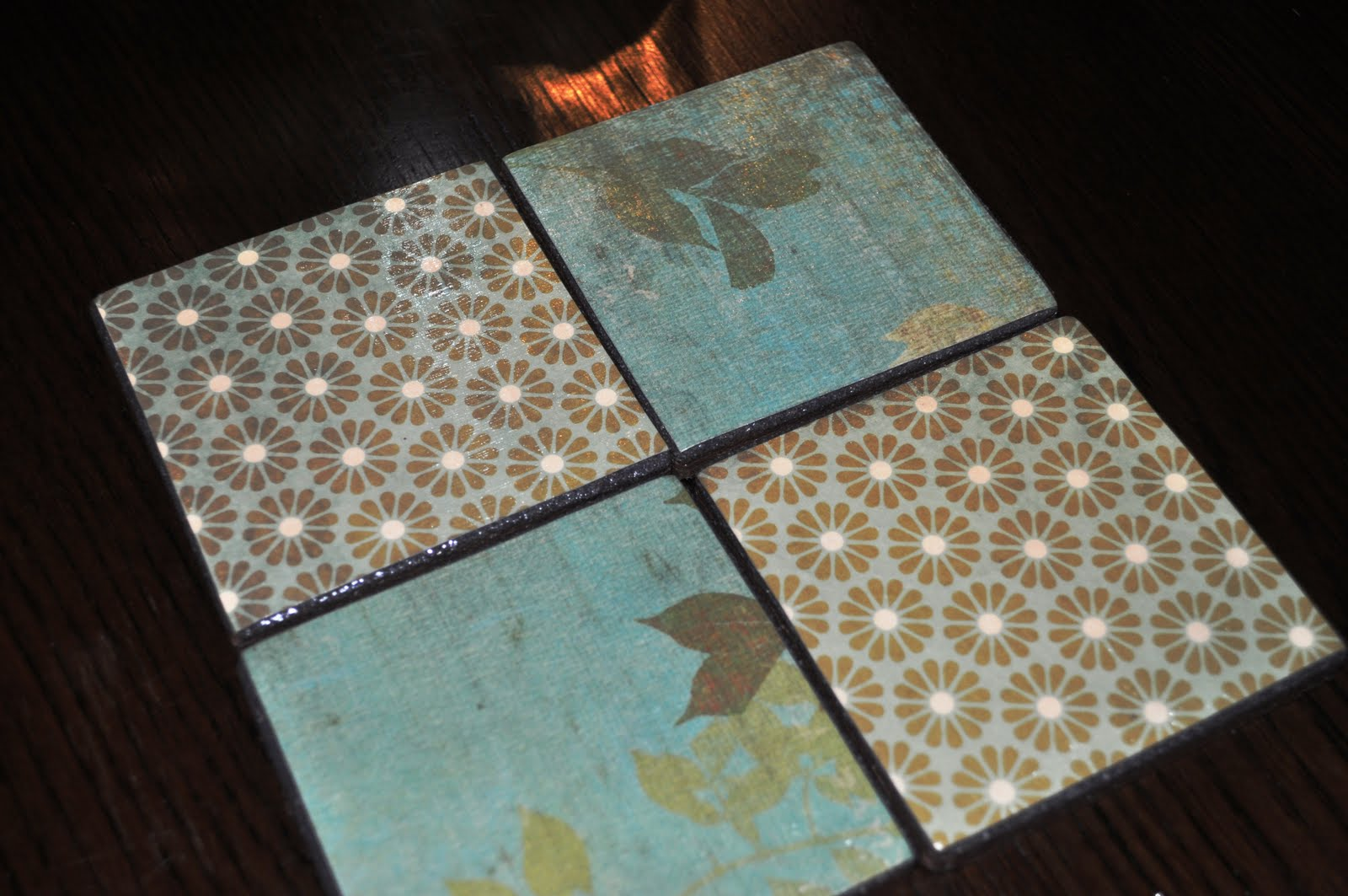 Diy Table Coasters The Collected Interior Vintage Inspired Coasters