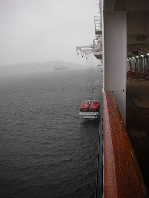 Cruise ship in bad weather