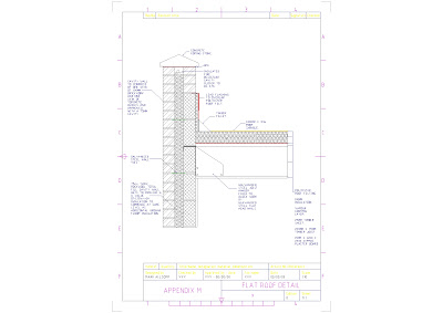 Auto CAD Drawings: Flat Roof With Parapet Wall Detail