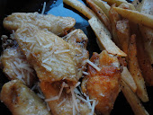 Parmesan Garlic Wings and Homemade Fries