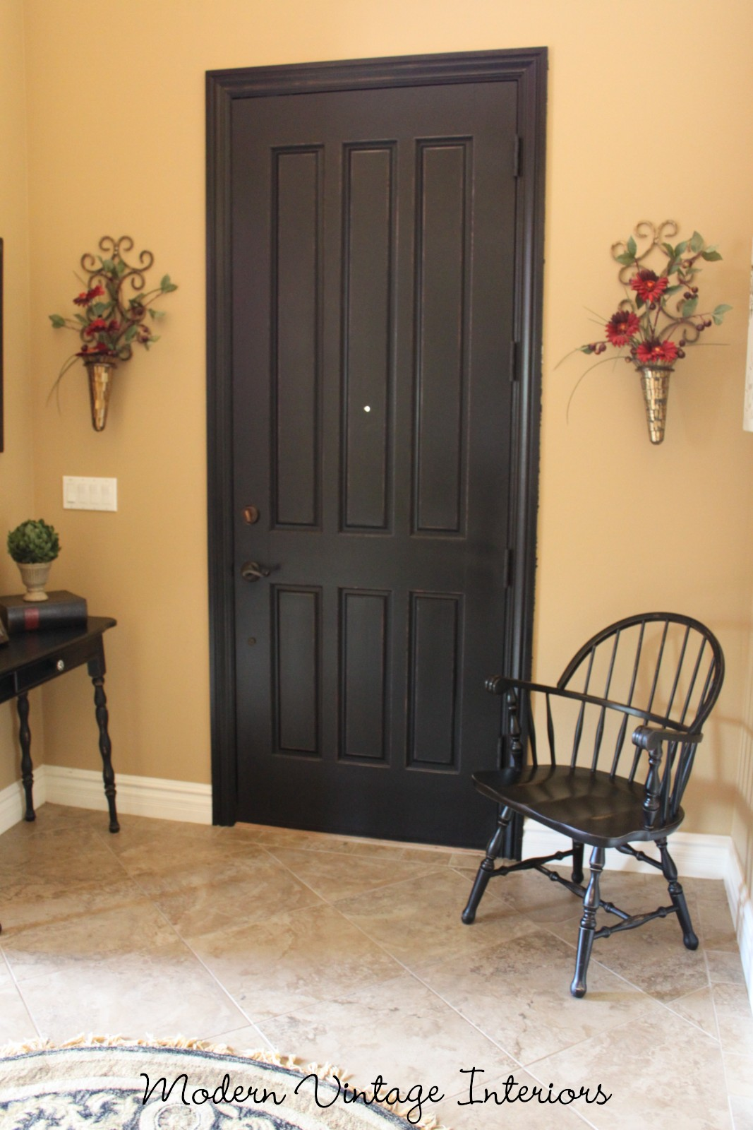 & Remodelaholic | Painting A Wooden Exterior Door Black