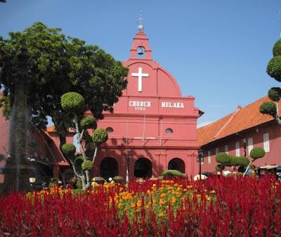 Das Wahrzeichen Melakas die Christ Church