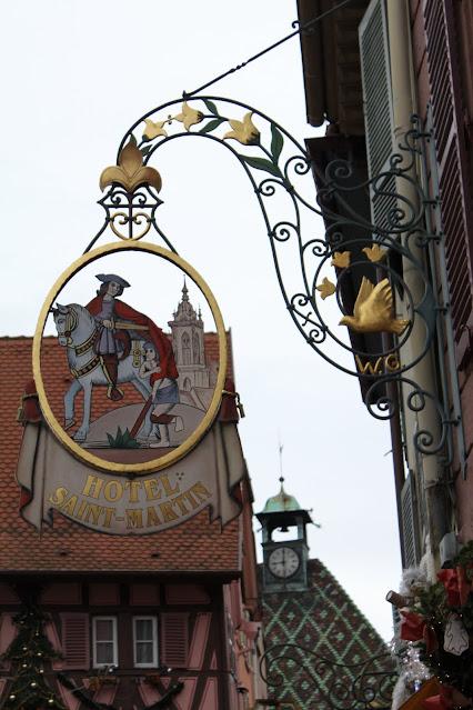 Insegna dell'Hotel St. Martin a Colmar
