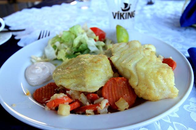 Pranzo al ristorante dei cottages Hunkubakkar