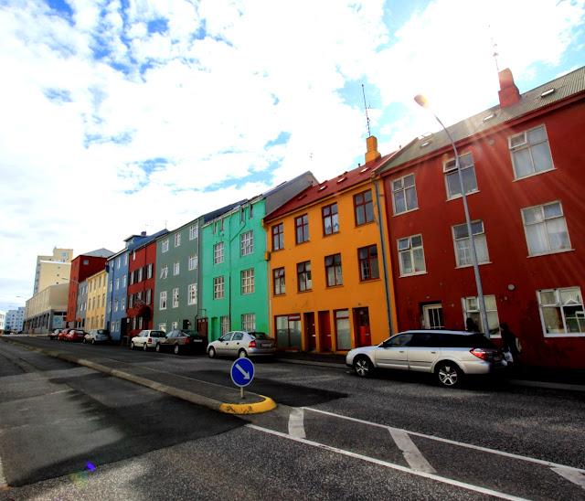 Case colorate a Reykjavik