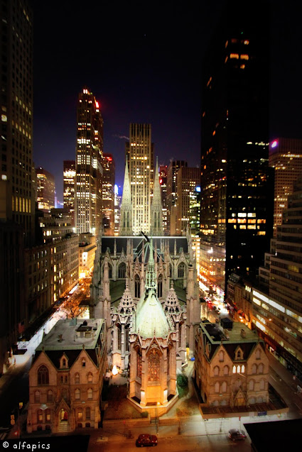 Vista sulla St. Patrick's Cathedrale dal New York Palace-New York