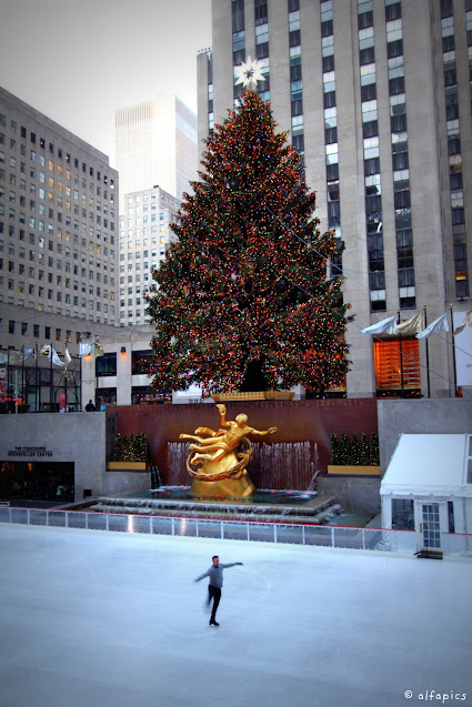 Rockefeller center (pista di pattinaggio)-New York