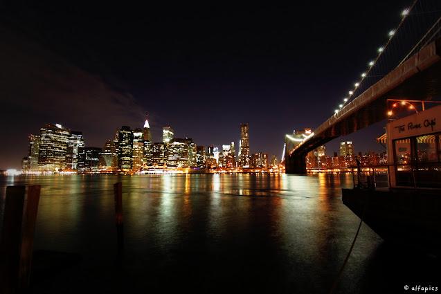 manhattan vista dal River café-Brooklyn-New York