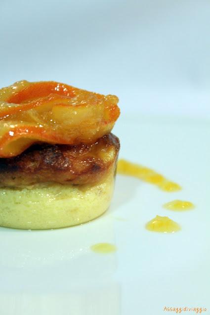 Budino di panettone in salsa all'arancia di Sal De Riso
