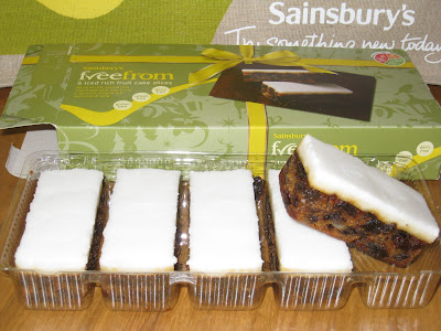adventures of a gluten free globetrekker Sainsbury's freefrom Iced Rich Fruit Cake Slices Gluten Free Christmas
