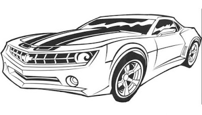 transformer bumblebee coloring pages free - photo#32