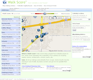 Walk Score analysis for southern Las Vegas
