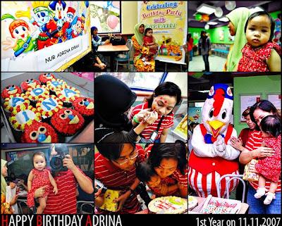 SekociNorlie: Nur Adrina Kyrah Birthday Party @ KFC Kelana ...