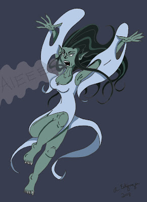 The Animator's Journal: 30 Days of Cryptids Day 4: The Banshee
