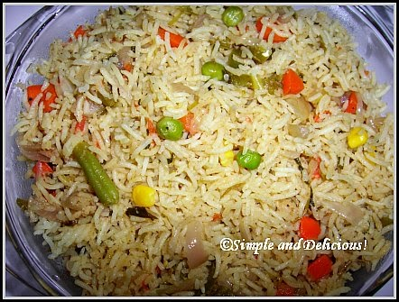 Vegetable Biryani Kerala Style Simple And Delicious
