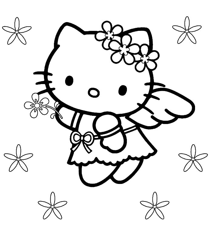 a coloring pages of hello kitty | Hello Kitty Pictures: Hello Kitty Coloring Pages