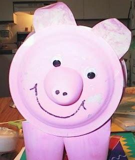 Pig Toilet Paper Holder Craft