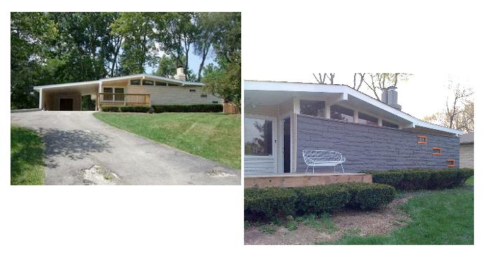 Mid century modern atomic indy mid century modern - Mid century modern exterior renovation ...