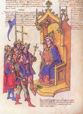 Prestes João branco, Wappenbuch de Conrad Grunenberg, Constância, 180, Munchen, Bauerische Staastiblioteck, Cgm, 145, p.53)