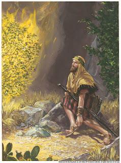 Kết quả hình ảnh cho Mosê và bụi gai