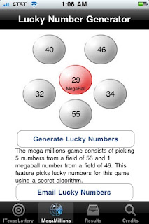 ITexasLottery Iphone App: The ultimate texas lottery iPhone