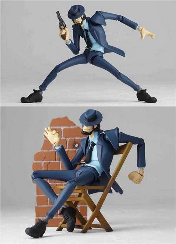 Revoltech Yamaguchi No.98 Lupin The Third Jigen Daisuke Figure Kaiyodo Action Figures