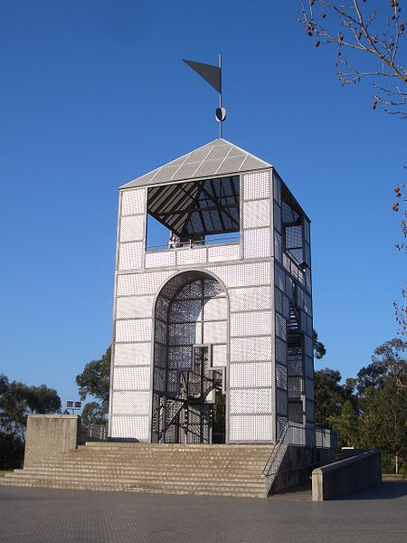 The Treillage Tower Is Located At Highest Point Of Bicentennial Park Homebush Bay Sits One End An Avenue Plane Trees