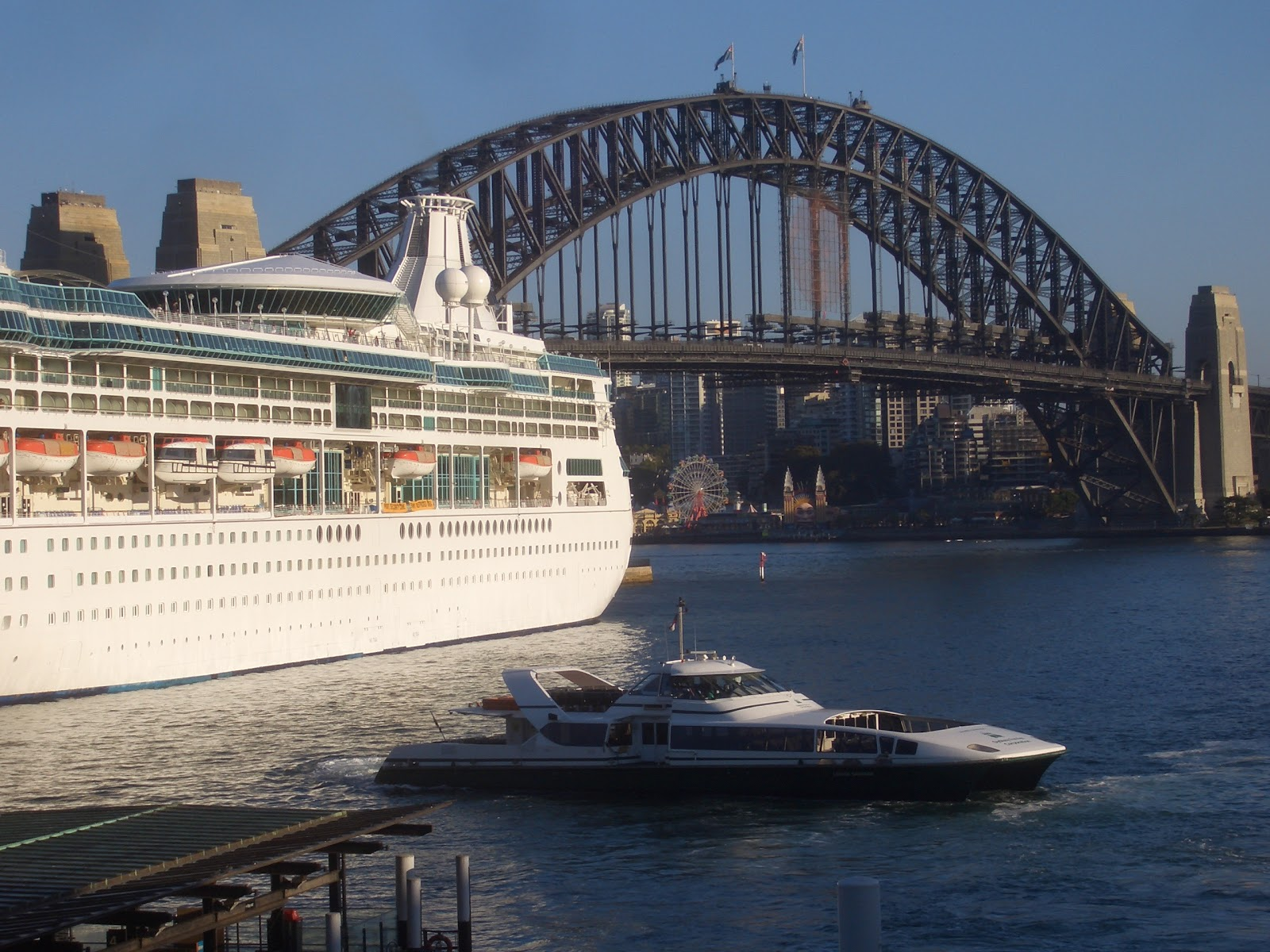 Sydney  City And Suburbs Circular Quay Big Boat Little
