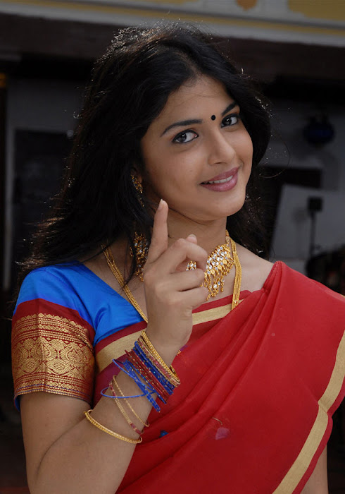 nichole saree cute stills
