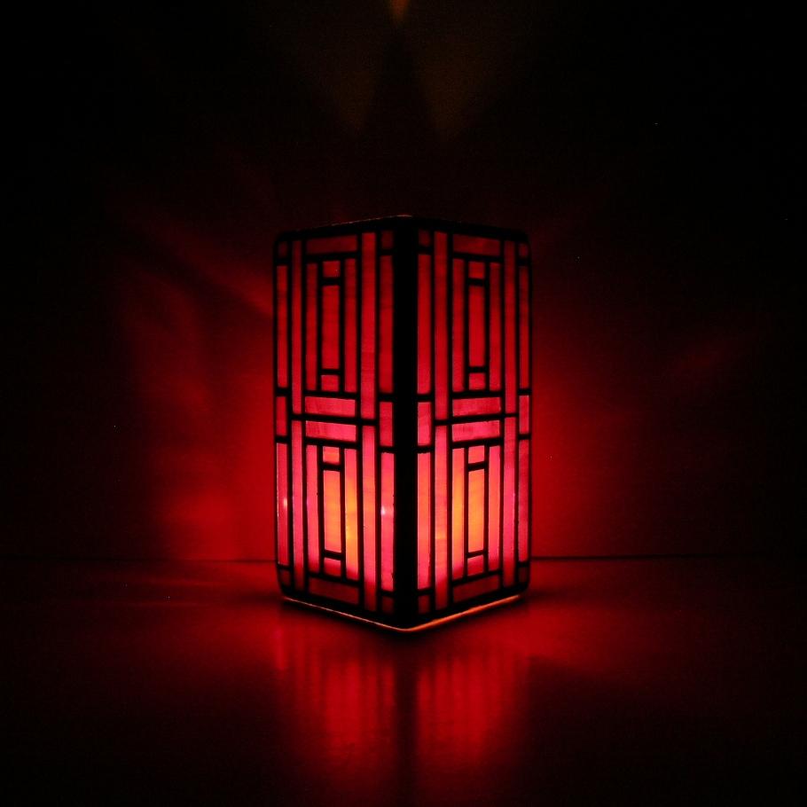 Shards Of Glass Mosaics Red Art Deco Vase
